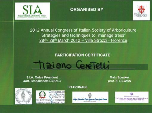 Congresso 2012 Società Italiana d'Arboricoltura – Tiziano Ceretelli