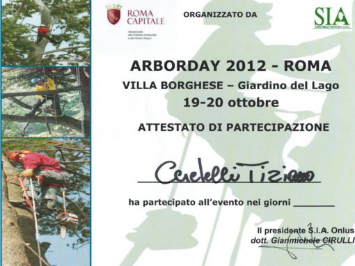Arborday 2012 Roma – Tiziano Ceretelli