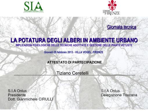 Potatura Alberi in Ambiente Urbano – Tiziano Ceretelli