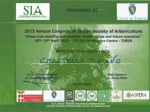 Congresso 2013 Società Italiana d'Arboricoltura – Tiziano Ceretelli