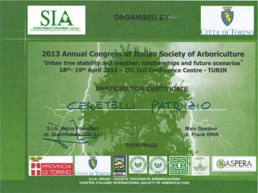 Congresso 2013 Società Italiana d'Arboricoltura – Patrizio Ceretelli
